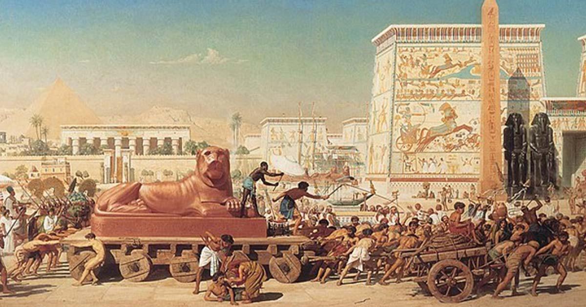 Trade in Ancient Egypt portrayed in 'Israel in Egypt' by Edward Poynter  Source: Edward Poynter / Public Domain
