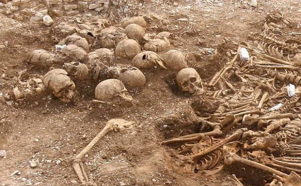 The Viking remains found in a mass grave with their heads separated from their bodies