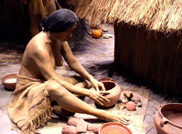 Maya volcanic ash pottery