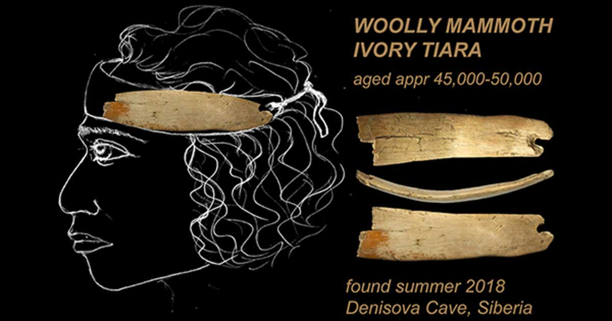 The Paleolithic tiara made of woolly mammoth ivory can be dated approximately to between 45,000 to 50,000 years old.