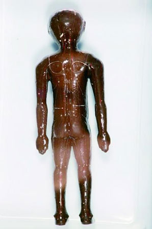 Figurine with acupoints