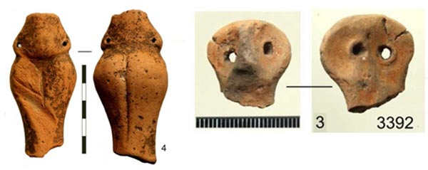 Fragments of figurines found at the temple site