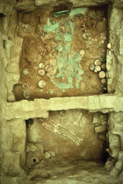 Tomb of the first priestess. San José de Moro.