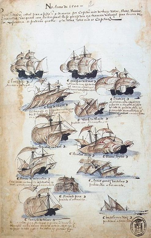 The fleet commanded by Pedro Álvares Cabral.
