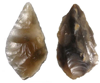 Flint arrow heads unearthed at Land's End
