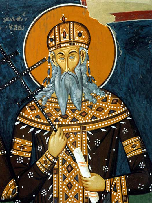The fresco of king Volkašin Mrnjavčević