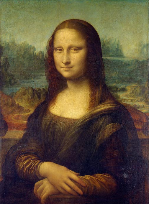he full Mona Lisa painting by Leonardo da Vinci.