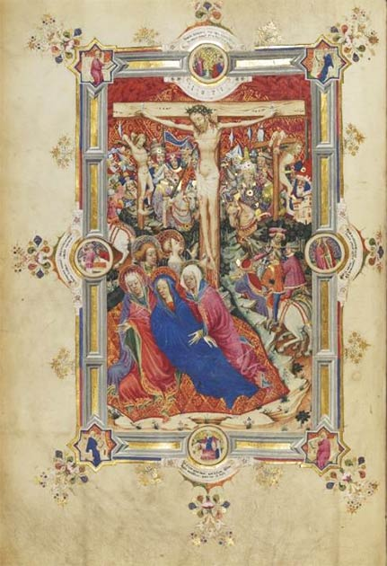 The full-page picture of the Crucifixion in the Sherborne Missal. (Public Domain)