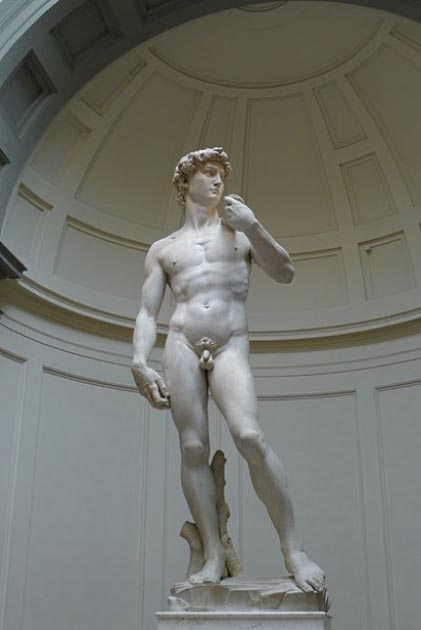 Full shot of Michelangelo's David in Florence. (Michelangelo / CC BY 3.0)