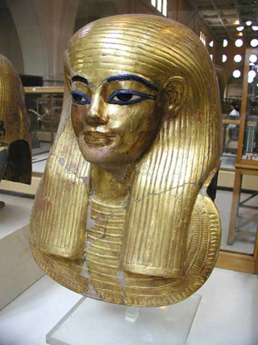 The gilded cartonnage mask of Yuya, the father of Queen Tiye. Was Yuya more than just the father-in-law of pharaoh Amenhotep III – could he have been the Biblical Patriarch Joseph? (Public Domain)