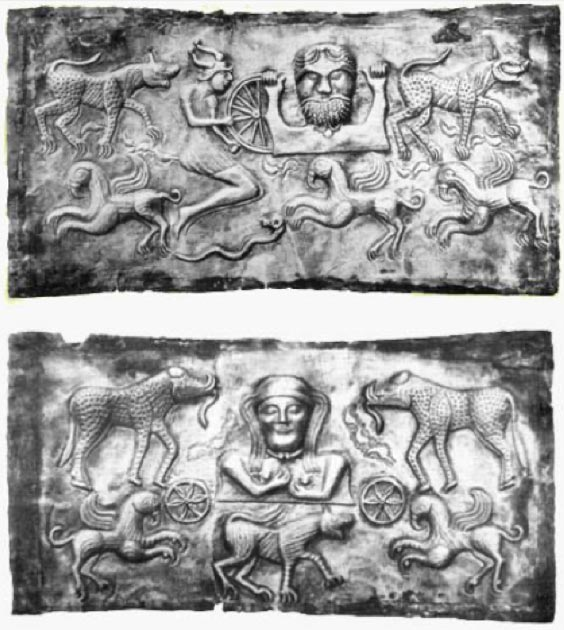The 'God-Father' (top) and 'God-Mother' (bottom) plates. (Author provided)