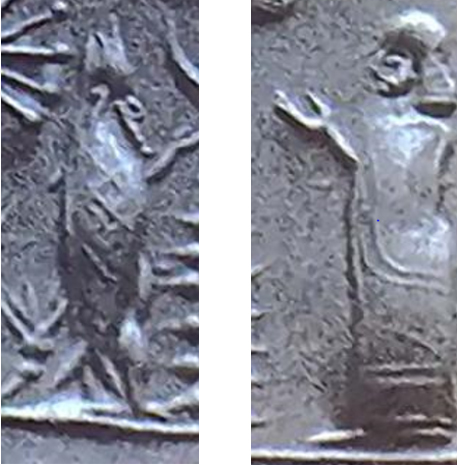 Likely god Ea.                         Possible god Enlil.