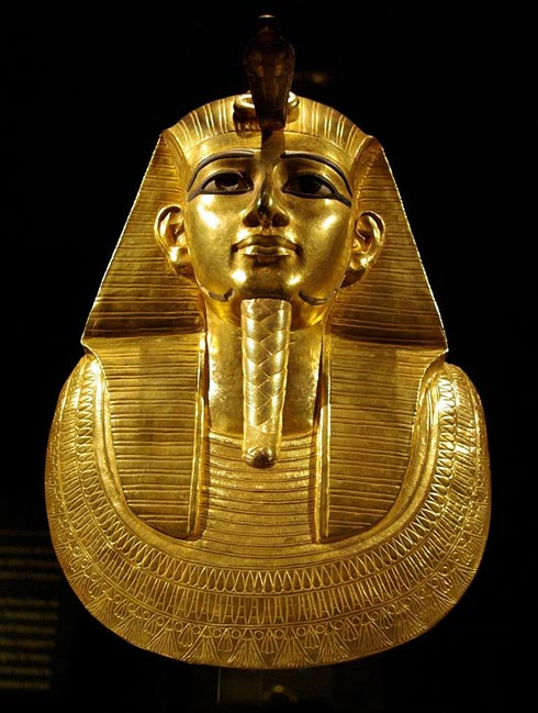 The gold funerary mask of Psusennes I.