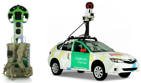 Technology used by Google Street Map