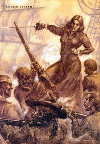 Artist's depiction of Grace O'Malley