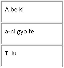 Translation/Transliteration of the Olmec plain signs.
