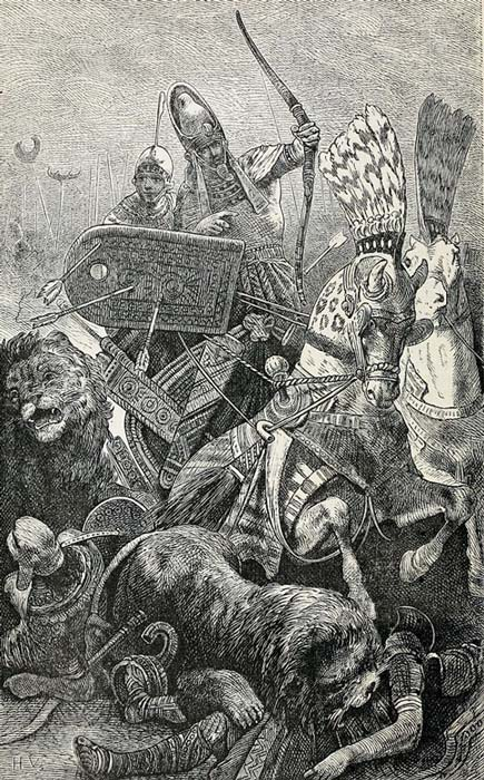 The great Sesostris (Rameses II) in the Battle of Kadesh