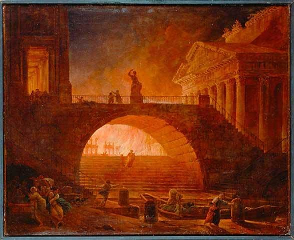 Artwork of the Great Fire of Rome