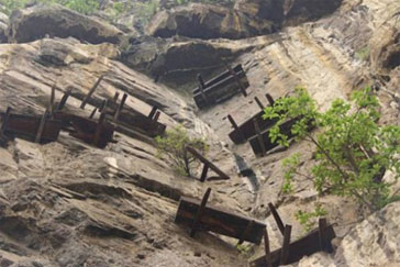 The hanging coffins of Sichuan province