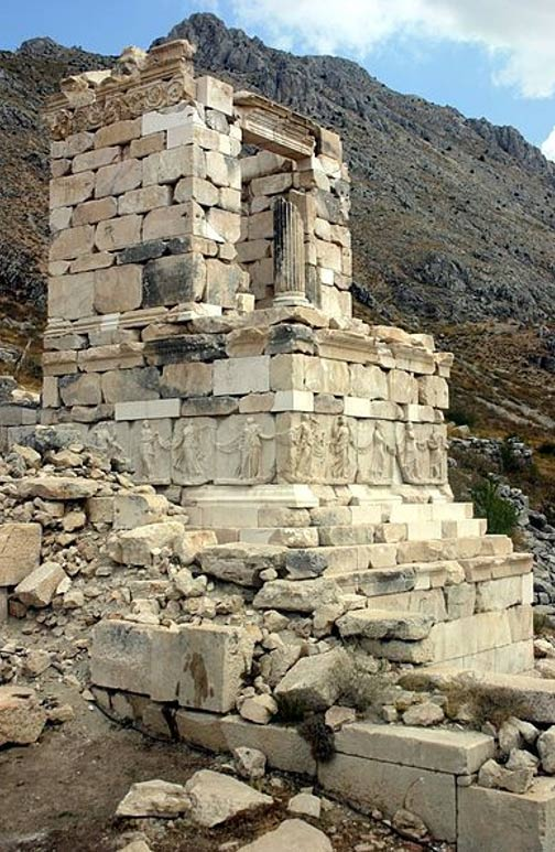 Ruins of a hero-shrine or heroon at Sagalassos, Turkey