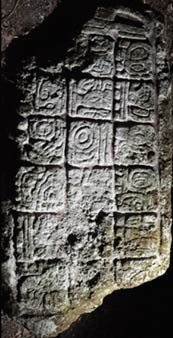 The hieroglyphic inscription - Mayan