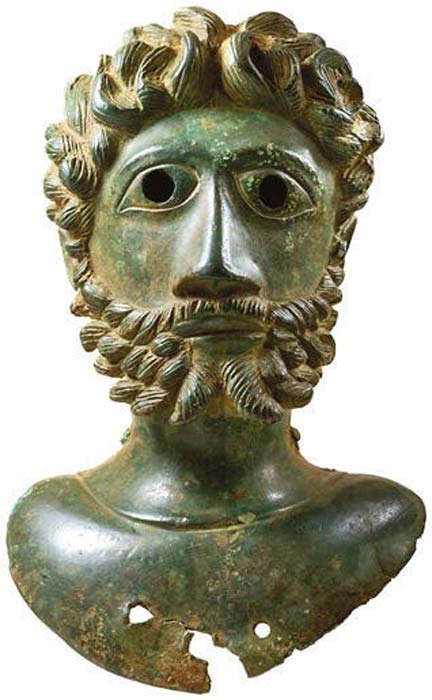 The highlight of this Roman bronze collection discovered in a Yorkshire field, is the bust depicting Marcus Aurelius. The whole collection is now up for auction at Hansons Auctioneers. (Hansons Auctioneers)