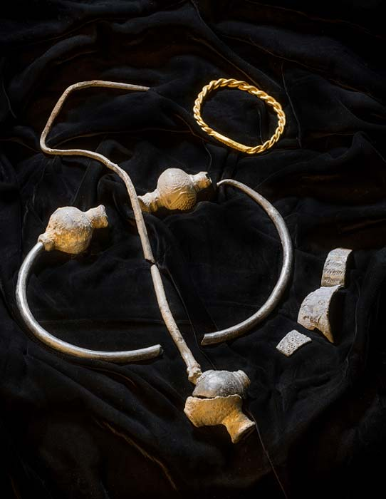 "The rare Viking hoard was discovered on the Isle of Man by Kath Giles, and has been dubbed the ""the Giles Hoard."" (Manx National Heritage Museum)"