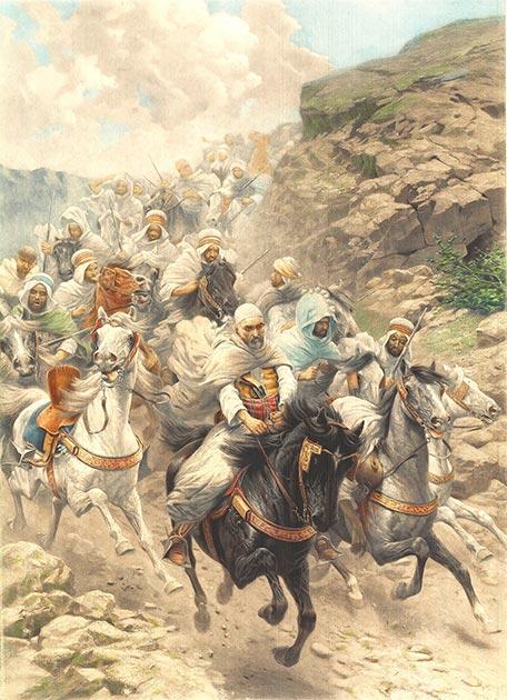 Ancient Arabian horses / equestrian troops. (Floti8 / Public Domain)
