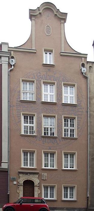 Fahrenheit's birthplace in Gdańsk (Danzig).
