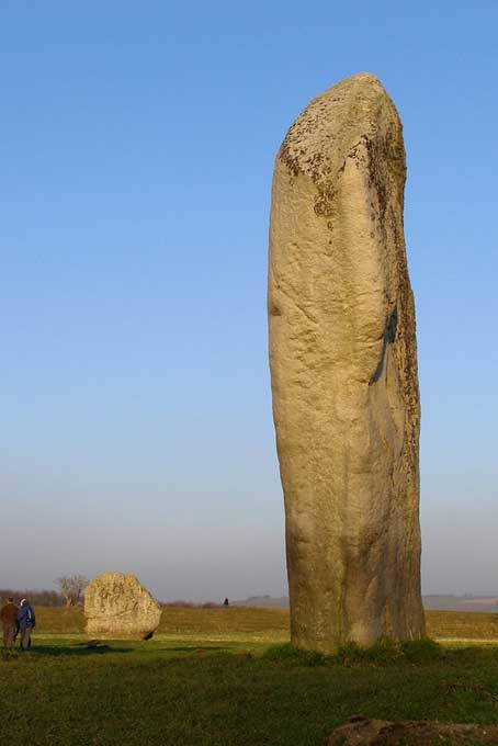 If you think it would be difficult to move huge wooden tree boles, check out the Cove stone at Avebury. Note the size of the people to the left in relation to the stone.