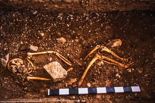 Human burial found at Hatun Xauxa