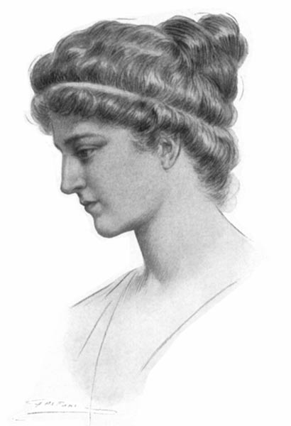 Portrait of Hypatia.