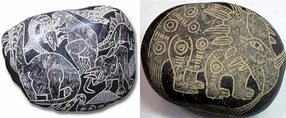 The depictions of dinosaurs on these Ica stones appear unmistakable