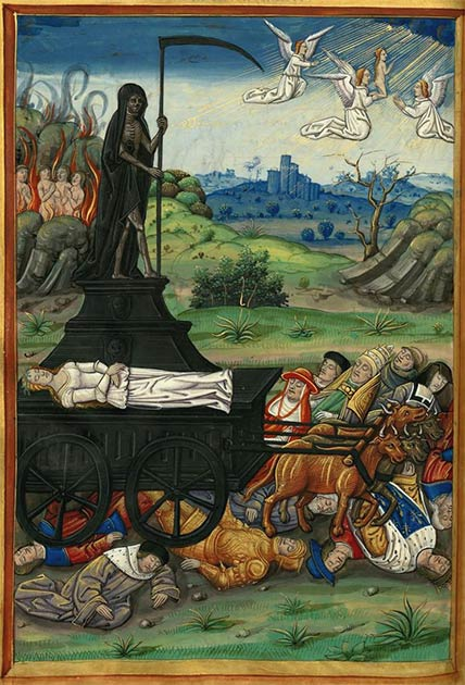 Illustration of Petrarch's Triumph of Death. (Public domain)