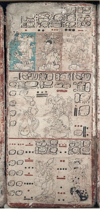 An image of the Dresden Codex from the World Digital Library