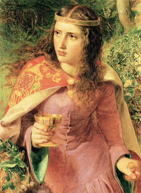 Painting of Queen Eleanor by Frederick Sandys (1858) located in the National Museum Cardiff collection. (Frederick Sandys / Public domain).