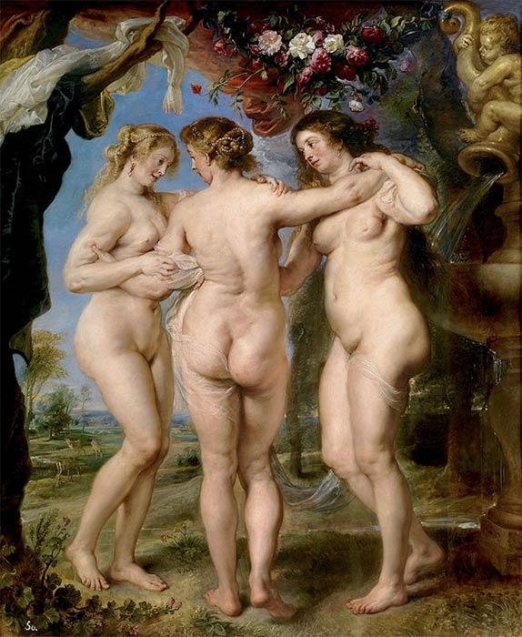 The Three Charities or Graces by Peter Paul Rubens (1635) - Museao del Prado (Public Domain)