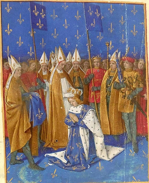 Depiction of the coronation of Charles VI of France at the age of 11. (Jean Fouquet / Public domain)