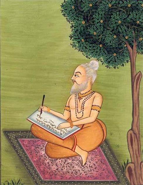 An artist's impression of Sage Valmiki composing the Ramayana. (Public Domain)
