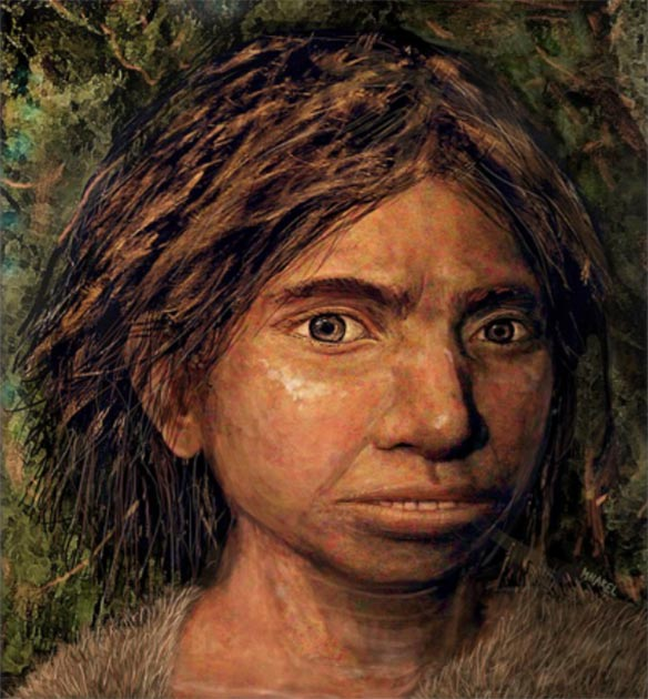 The Hebrew University team's award-winning reconstruction of the Denisovan face. (Image: © Maayan-Harel)