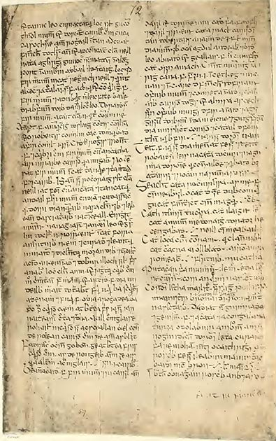 A page from the Book of Lismore, the medieval book that was recently returned to Ireland by an English aristocratic family. (Public domain)