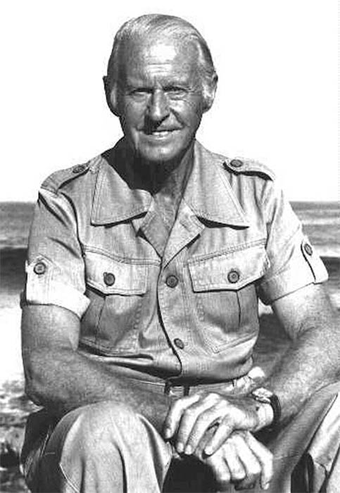 Portrait of Thor Heyerdahl, in the 1980s. (Public Domain).