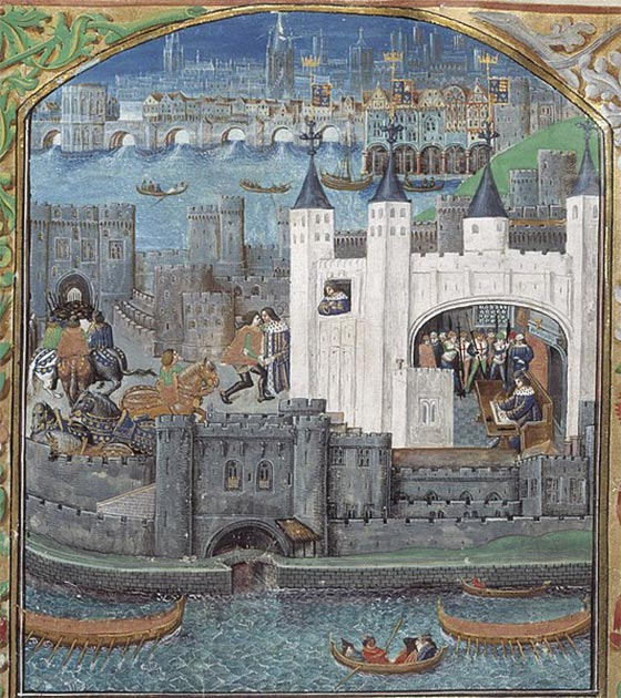 The imprisonment of Charles, Duke of Orléans, in the Tower of London from a 15th-century manuscript. (Public Domain) Life in medieval Europe was especially unpleasant for people living in urban areas.