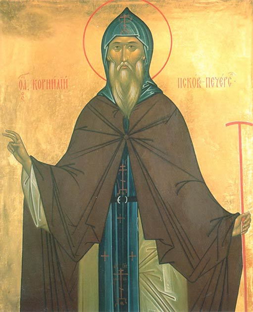 A painting of Saint Cornelius, who contributed so much to the greatness of the Pskov-Caves Monastery. (John Sanidopoulos blog site)