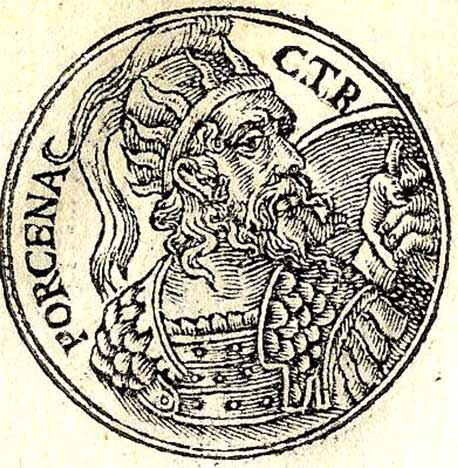 Lars Porsena as depicted in the Promptuarii Iconum Insigniorum list of notable people published in France in 1553 AD. (Published by Guillaume Rouille (1518?-1589) / Public domain)