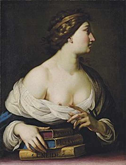 Calliope, muse of eloquence and epic poetry by Cesare Dandini.  Christie's (Public Domain)