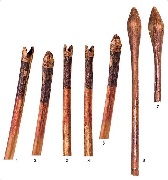 The adolescent Amazon had a choice of arrows - two were wooden, one had a bone tip, and the arrowheads of the rest were bronze. (Image: A.Yu. Makeeva)
