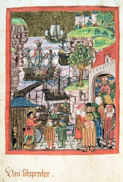 Hamburgo y Lübeck forjaron una alianza en 1241, que les permitió dominar toda la red de comercio de pescado salado en la región del Báltico. (Unknown: CC BY-SA)