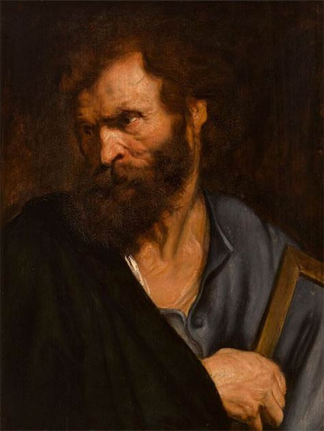 Saint Thaddaeus or Saint Jude the Apostle. (Anthony van Dyck / Public domain)