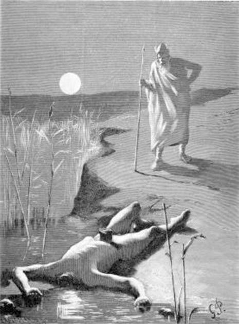 Odin finding Mimir's headless body. (Public domain)